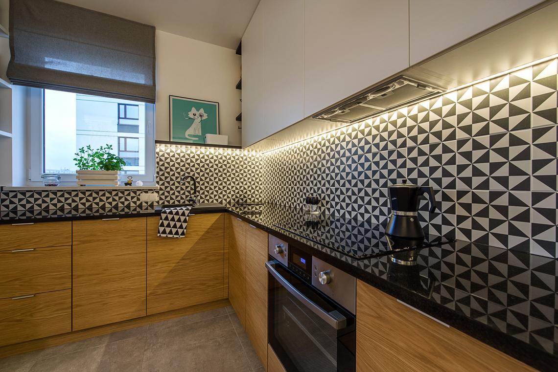 Fotograf wnętrz dla projektanta, sesja fotograficzna mieszkania, kuchnia.
