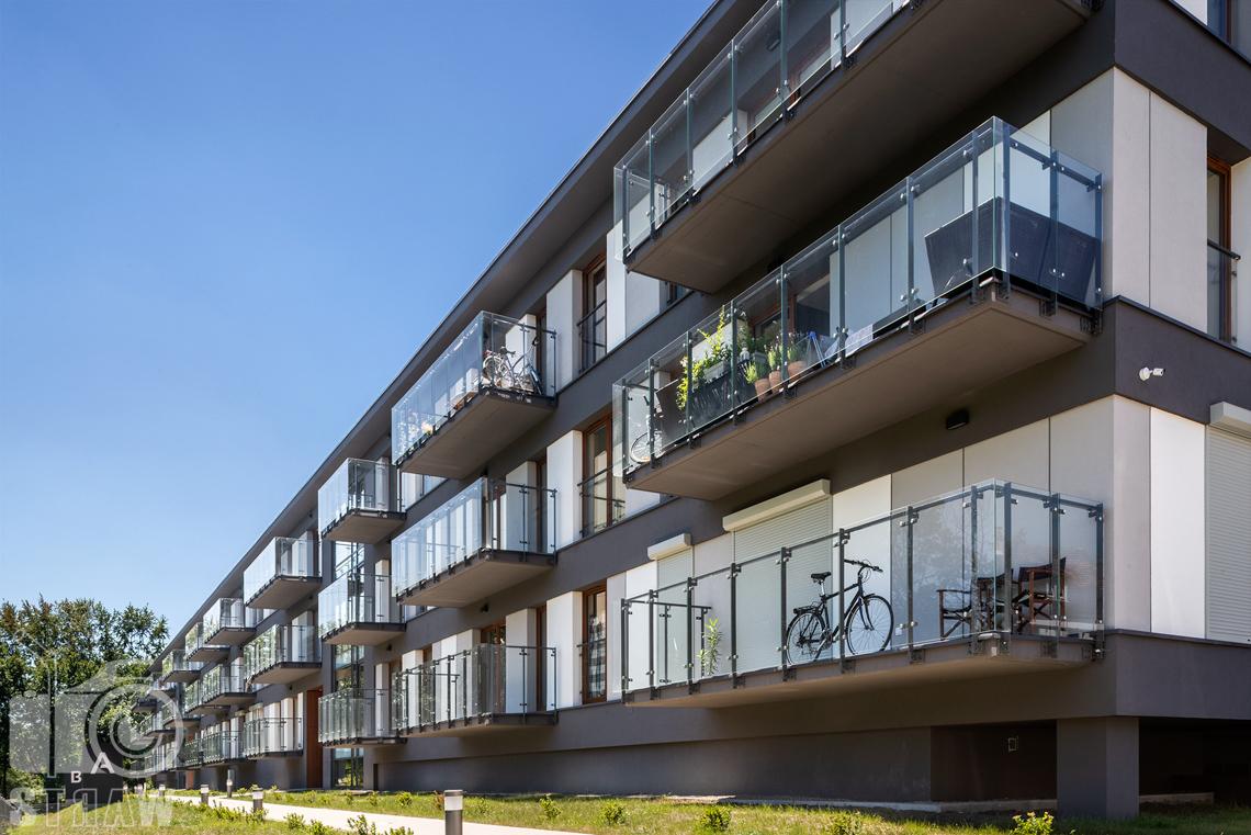 Fotograf architektury, zdjęcia zrealizowanej inwestycji mieszkaniowych dla dewelopera, fotografie osiedla dla firmy Unidevelopment, zdjęcia apartamentów zielony sołacz w Poznaniu.