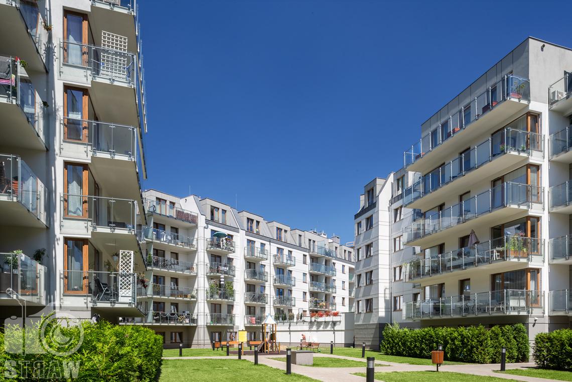 Fotograf architektury, zdjęcia zrealizowanej inwestycji mieszkaniowych dla dewelopera, sesja zdjęciowa osiedla dla firmy Unidevelopment, osiedle Czarnieckiego w Poznaniu.