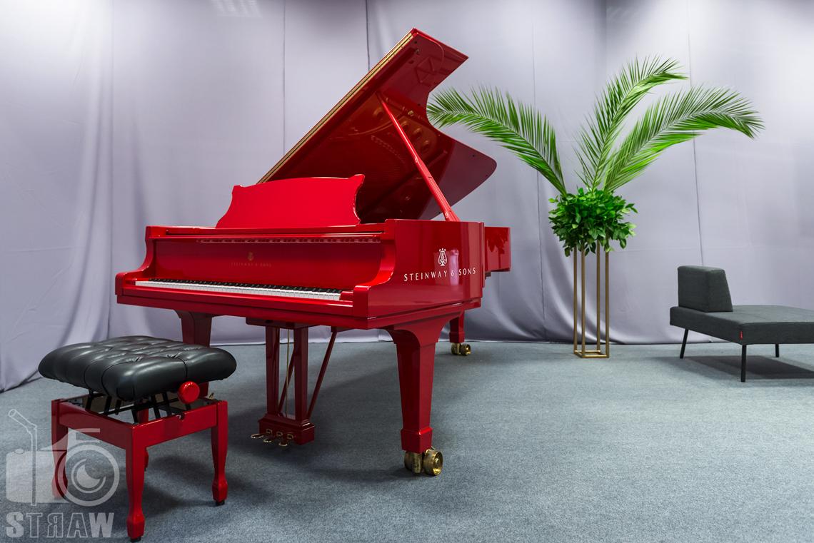 Zdjęcia z targów wyposażenia wnętrz Warsaw Home, relacja fotograficzna, fortepian w strefie relaksu.