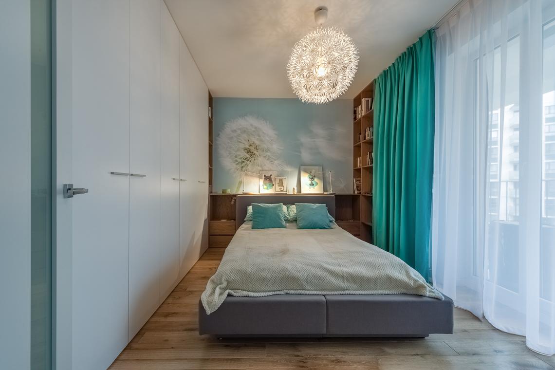 Fotografia dla biur projektowych, sesja fotograficzna wnętrz, sypialnia.