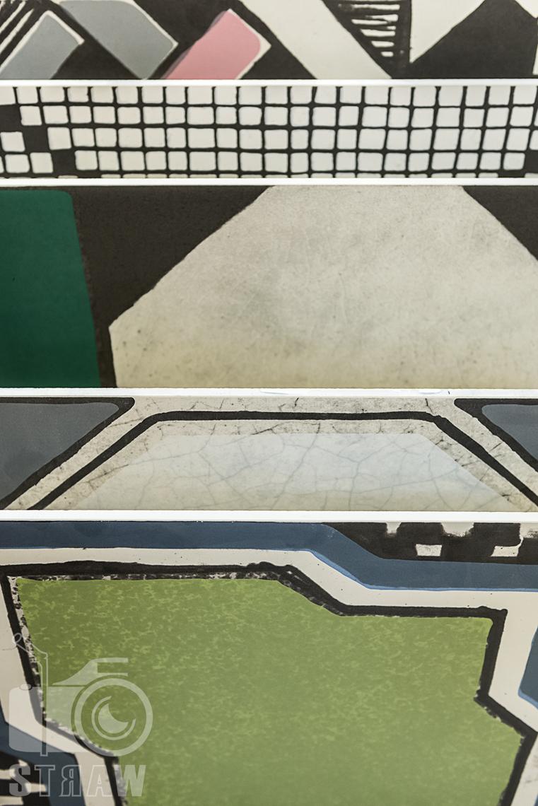 Fotografie z targów wyposażenia wnętrz Warsaw Home, relacja fotograficzna, piękne i różnorodne płytki handh tiles mosaic.