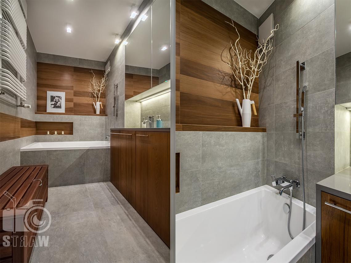 Fotograficzna obsługa biur projektowych, sesja zdjęciowa mieszkania, łazienka.