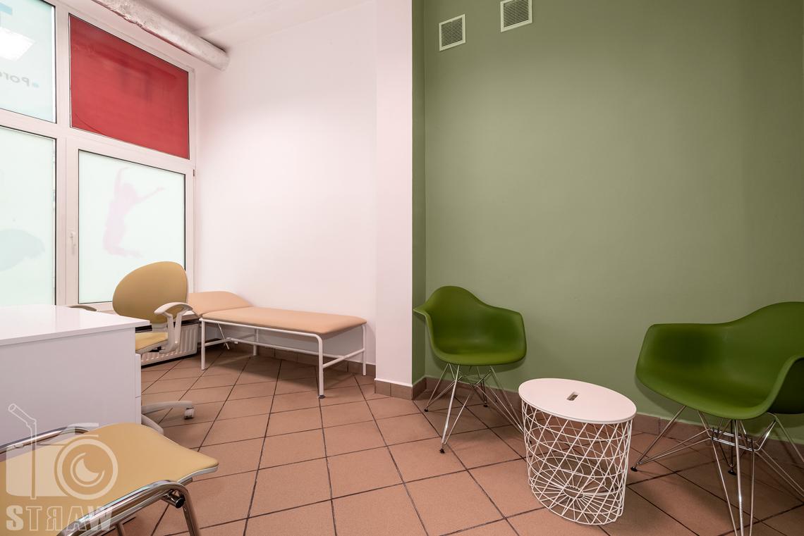 Fotografia wnętrz komercyjnych, zdjęcia domu opieki medycznej tutaj gabinet lekarski.