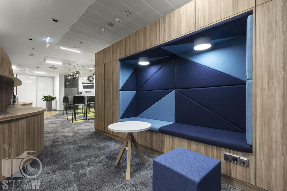 Fotografia wnętrz komercyjnych, zdjęcia powierzchni biurowych w warszawie, tu miejsce na wypoczynek.