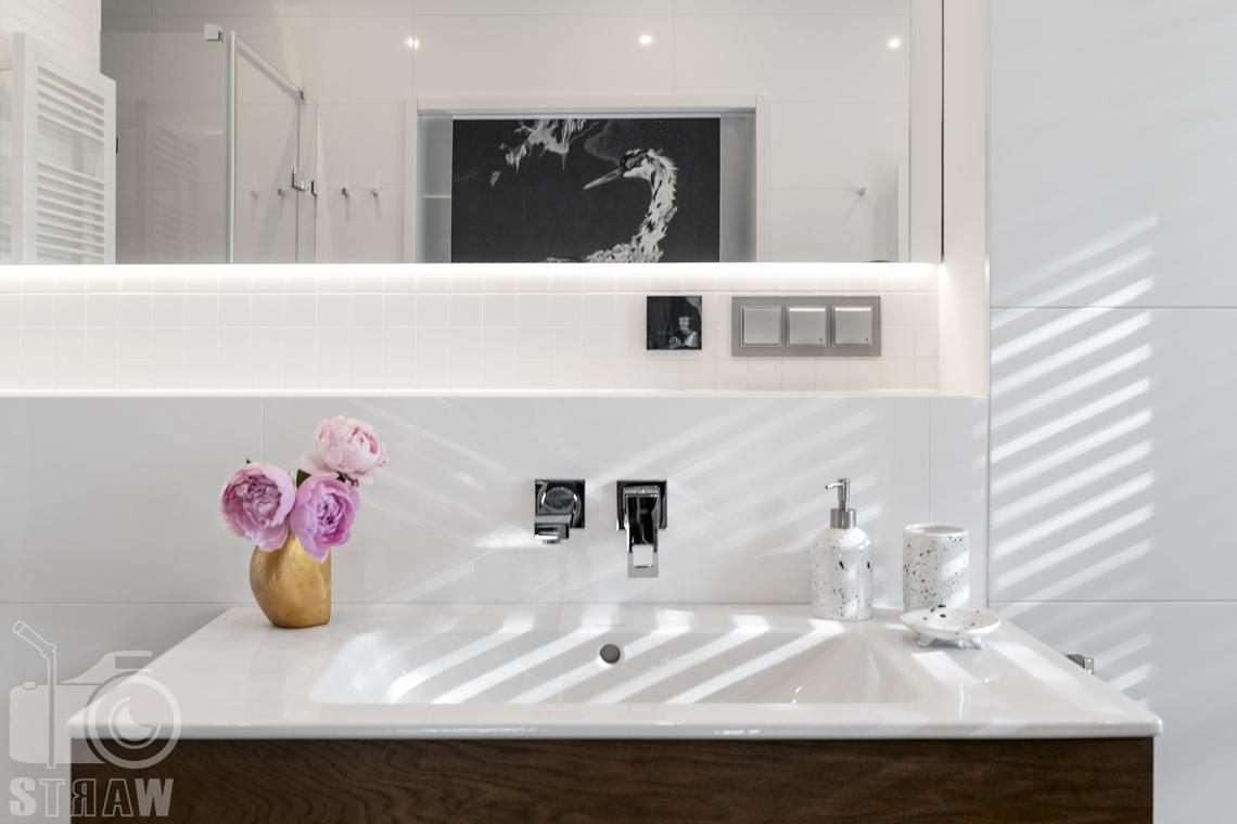 Fotografia wnętrz dla projektanta, zdjęcie umywalki.