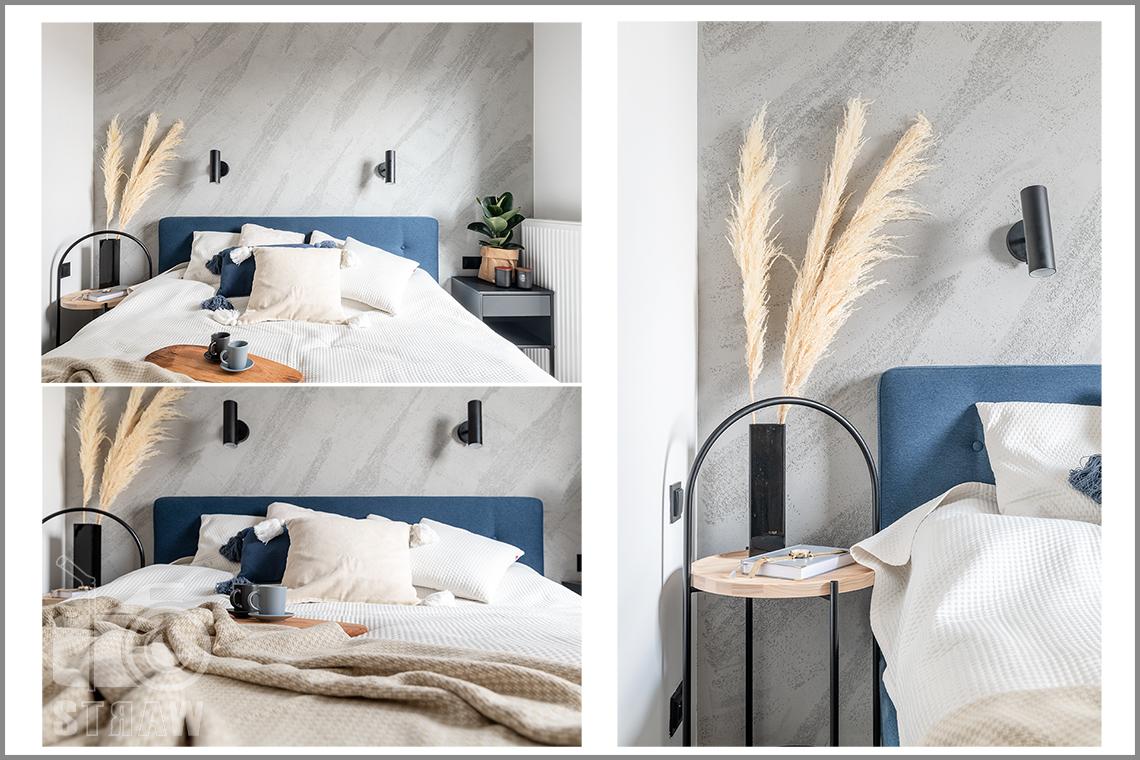 Fotografia wnętrz dla projektantów i architektów, sypialnia i łóżko w kilku odsłonach.