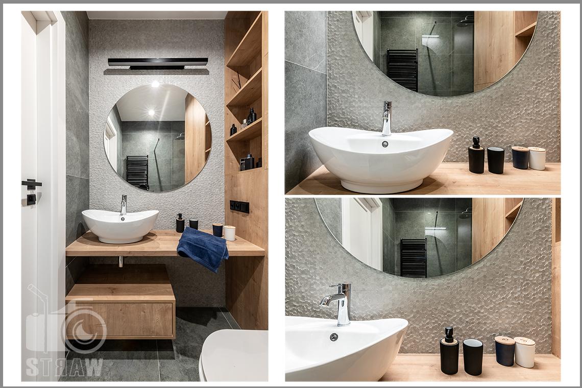 Fotografia wnętrz dla projektantów i architektów, toaleta i umywalka i detale.